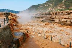 Hukou nedgångar av Yellow River Royaltyfri Foto