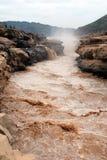 Hukou siklawa Żółta rzeka Zdjęcia Royalty Free