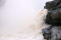 Hukou vattenfall av Yellow River arkivfoton