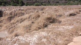 Hukou vattenfall av Yellow River arkivfilmer