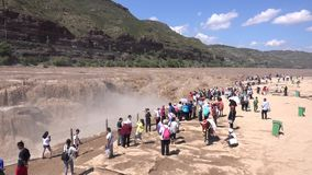Hukou vattenfall av Yellow River stock video