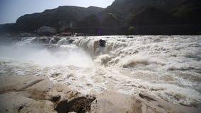 Hukou Wasserfälle stock video footage