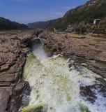 Hukou-Wasserfall von Gelbem Fluss Lizenzfreies Stockfoto