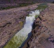 Hukou-Wasserfall von Gelbem Fluss Stockfotografie