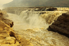 Hukou Waterfall. Is situated in jixian countryshanxi province china.this scenic spot has a total area of 100sqkm and is composed of four main kinds of earth's Royalty Free Stock Photos