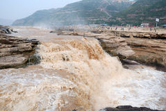 Hukou Waterfall of China's Yellow River Stock Image