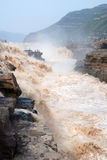 Hukou Waterfall of Chinas Yellow River Stock Photos
