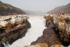 Hukou waterfall 1 Royalty Free Stock Photos
