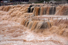 Hukou Waterfall. Linfen Jixian town famous Hukou Waterfall of the Yellow River Hukou Stock Image