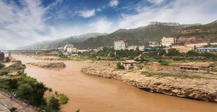 Free Hukou Waterfall Of The Yellow River Stock Photos - 125427443