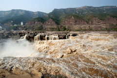 Hukou Waterfall in Shanxi Royalty Free Stock Images