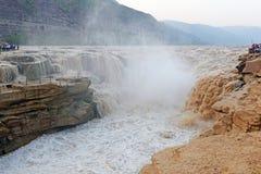 Hukou waterfall in Yellow river of china Stock Photo