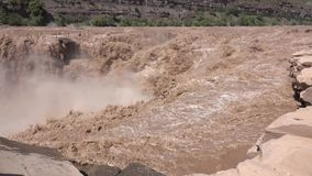 Hukou Waterfall of Yellow River stock video footage