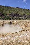 Hukou Waterfall of Yellow River Royalty Free Stock Photo