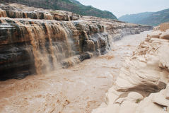 Hukou Waterfall of Yellow River. Hukou Waterfall is located in the Yellow River. It is the largest waterfall in the Yellow River and the second highest waterfall Royalty Free Stock Photo