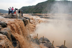Hukou Waterfall of Yellow River Royalty Free Stock Images