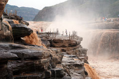 Hukou Waterfall of Yellow River Royalty Free Stock Image