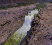 Hukou waterfall of Yellow River Stock Photography