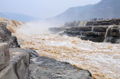 Hukou waterfalls Stock Images