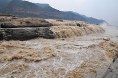 Hukou waterfalls Royalty Free Stock Image