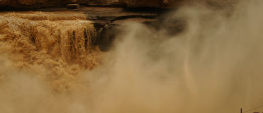 Hukou Waterfalls (Kettle Spout Falls) Stock Images