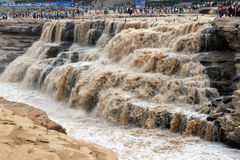 Hukou waterfull in yellow river Stock Photos