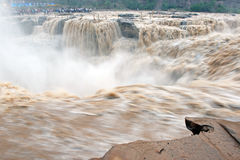 Hukou waterfull in Yellow river of china Stock Photography