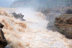 Hukouwaterval van de Gele Rivier van China Royalty-vrije Stock Foto