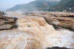 Hukouwaterval van de Gele Rivier van China Stock Afbeelding