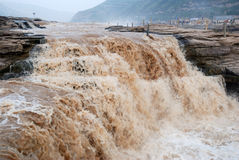 Hukouwaterval van de Gele Rivier van China Stock Fotografie