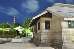 Hukuru Miskiiy или старая мечеть пятницы в Мальдивах, Стоковые Фото