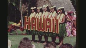 Hula舞蹈家欢迎向夏威夷 股票视频