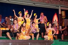 Hula舞蹈家 图库摄影