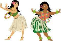 Hula舞蹈课 库存图片