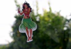 hula κοριτσιών που μυρίζει γλυκό στοκ εικόνες