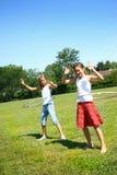hula στεφανών κοριτσιών Στοκ Φωτογραφίες