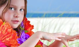 hula χορευτών παραλιών Στοκ εικόνα με δικαίωμα ελεύθερης χρήσης