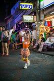 hula обруча девушки немногая играя Стоковое фото RF