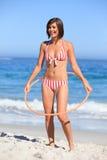 hula обруча играя женщину Стоковая Фотография RF