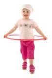 hula обруча ребенка Стоковое Изображение