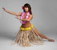 Hula Dancer. Pretty hawaiian tropical hula dancer stock photo