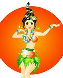 Hula Dancer Royalty Free Stock Image