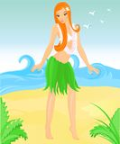 Hula dancer Royalty Free Stock Photography