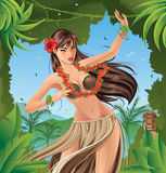 Hula Dancer Stock Image