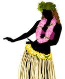 Hula Dancer. A  illustration of a hula dancer Royalty Free Stock Image