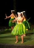 Hula dancers royalty free stock photos