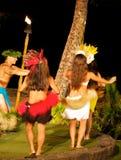 Hula dancers Stock Photo