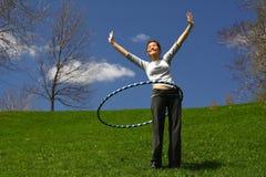 hula del cerchio Immagini Stock
