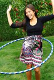 hula del cerchio della ragazza Fotografia Stock