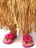 юбка hula flops flip стоковые изображения rf
